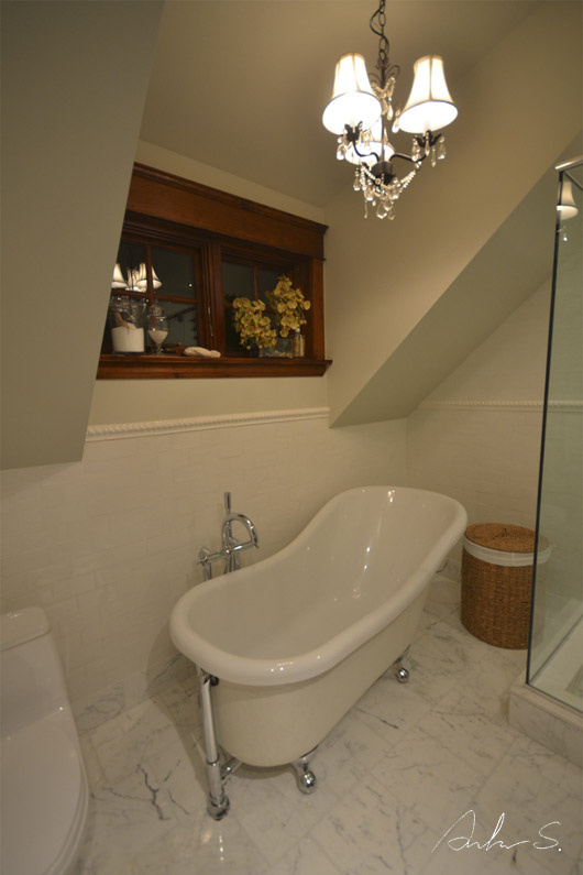 Upstairs guest bath B